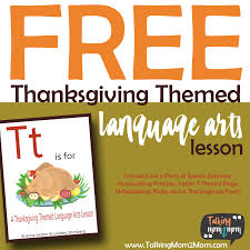 thanksgiving themed language arts activity pack talking mom2mom