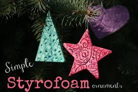 simple styrofoam ornaments happy hooligans