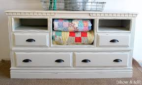 repurposing furniture before u0026 after u2013 dresser turned tv console sweet pickins furniture