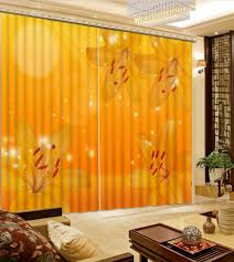 online get cheap yellow living rooms aliexpress com alibaba group high quality customize size modern fashion decor home decoration for bedroom living room curtain yellow flower