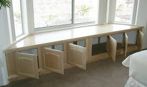 Window Seat Bench - storage bench finished plans for bench seat with storage for bay