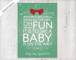 christmas pregnancy announcement typographic christmas present pregnancy announcement jingle