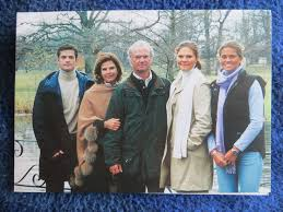 king carl xvi and queen silvia of sweden fabulous signed christmas