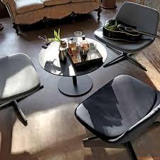 Metal Top Coffee Table Round Infiniti Round Coffee Table In Metal Top In Laminate