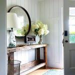Gold Entry Table Front Hall Table And Mirror Rustic Chic Console Table Entrance