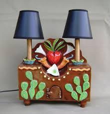 handmade ceramic candelabra area lamp artistic lighting fixture