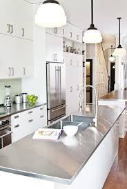 galley kitchens with islands kitchens stainless steel galley kitchen island white cabinets