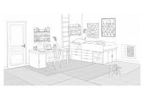 chambre en perspective dessin chambre pré ado salle de jeux commune interior