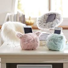 faux fur cozy mini animal phone holders pbteen