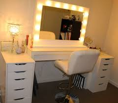 makeup dresser with lights most preeminent vanity table with lights magnifying makeup mirror