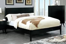 bed u0026 bedding mercury row mason mid century modern bed with black