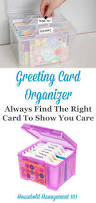 organize greeting cards home office organization greeting card