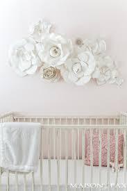 paper flower paper flower wall in the nursery maison de pax