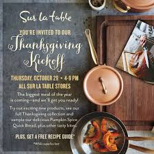 get ready for thanksgiving at sur la table orange county zest
