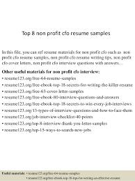 Cfo Resume Template Top 8 Non Profit Cfo Resume Samples 1 638 Jpg Cb U003d1437640506