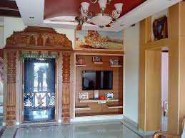 pooja room door design in interior designers kerala interior