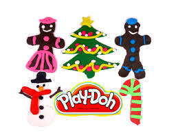 play doh gingerbread cookies tree play dough