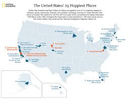 Santa Cruz Boardwalk Map Here Are The Top 10 Happiest Cities In The U S