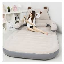 inflatable lazy sofa sleeping bedroom air bed mattress cute bear