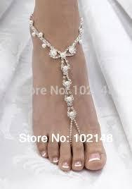 barefoot sandals wedding rhinestone pearl barefoot sandals wedding bridal jewelry
