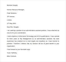 general cover letter for administrative assistant 28 images 13