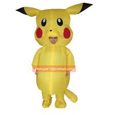 Blow Halloween Costume Inflatable Pikachu Costumes Child Kids Pokemon Cosplay