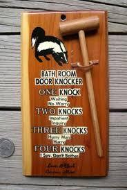 Bathroom Occupied Signs Please Knock No Lock Bathroom Door Sign Toilet Door Sign