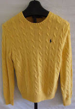 ralph sweater polo ralph crewneck 100 cotton yellow pony cable sweater xl
