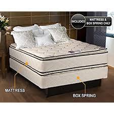 amazon com coil comfort pillowtop queen size mattress and box