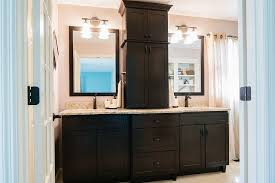 double sink vanity with middle tower double vanity with linen tower wehanghere