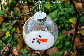 30 easy to make snowman ornaments for