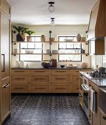 modern country kitchen with oak cabinets rustic farmhouse engrained cabinetry countertops