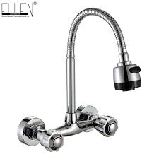 crane wall mount sink wall mounted kitchen faucet and cold water mixer crane two hole