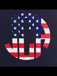 Flag Car Decals American Flag Monogram Decal Monogram Car Decal Laptop