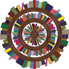clipart radial bookshelves 2