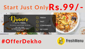 discount cuisines freshmenu coupon codes dishes starting at rs 99 only order fresh