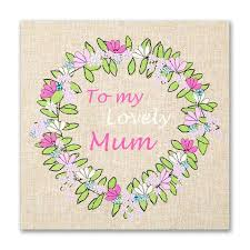 hand finished lovely mum garland card karenza paperie