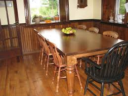 varnished hardwood long dining table and chairs mixed black solid varnished hardwood long dining table and chairs mixed black solid wood armchair as well as rustic