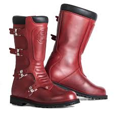 sportbike riding boots red stylmartin