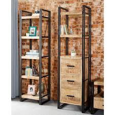 small narrow bookcase reclaimed wood mental frame bookcase bookshelf organizing