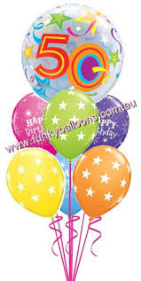 50 balloons delivered 50th birthday funky balloons brisbane qld helium balloon gift