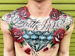 with roses and large broken chest floral