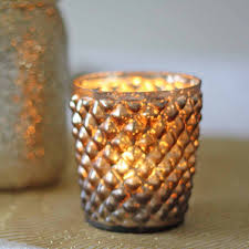 Light Holder Quilted Glass Bronze Tea Light Holder By The Wedding Of My Dreams