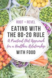 the 80 20 rule a practical diet approach for a healthier