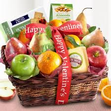 gourmet basket happy valentines day fruit and gourmet basket ap8019v a gift
