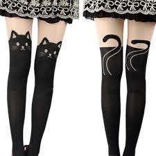 cute stockings hot sale women silk stockings pantyhose ribbed over cute cat girl