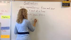 mini lesson subtraction with regrouping youtube
