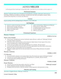 Pharmacist Technician Resume Pharmacy Technician Cv Example For Healthcare Livecareer