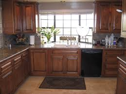 kitchen dark distressed kitchen cabinets rectangular brown