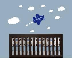 Airplane Wall Decals For Nursery Airplane Clouds Vinyl Wall Decals Nursery Sticker